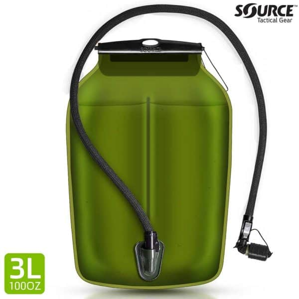 WLPS | Low Profile Hydration bladder | 3L (100 oz.) - Black