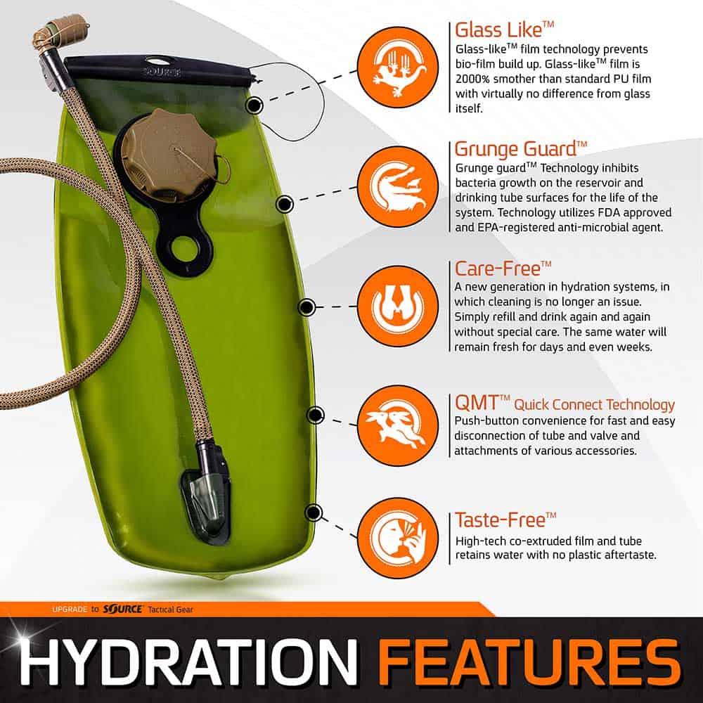 Tactical | Hydration Pack | 3L (100 oz.) / 2L (70 oz.)