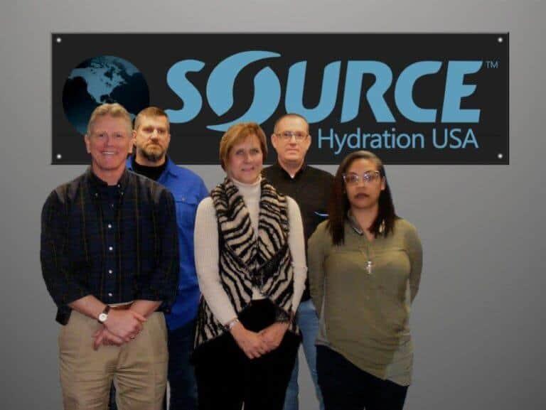 Source Hyration USA Team (ltr): Steve White, Steve Alt, Gina Brogan, Ahron McNaughton, Heather Scott