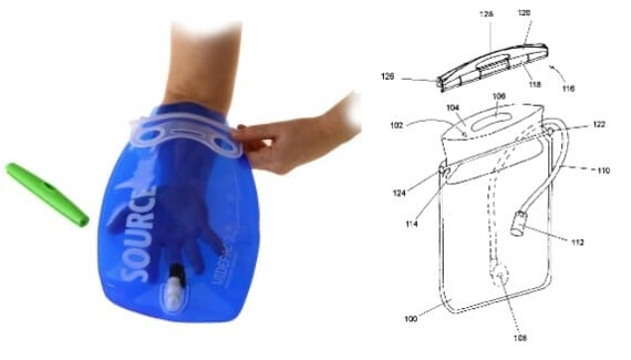 """Patented: SOURCE Widepac's """"sealing device for flexible liquid container"""""""